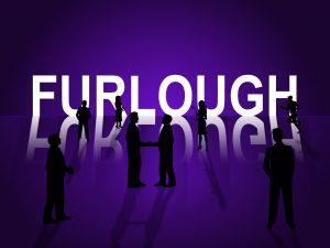 white word 'FURLOUGH' against a purple background